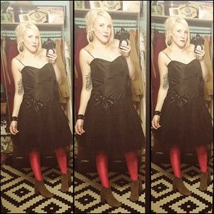 Madonna AF, VINTAGE, black, lace, sequined dress!!